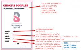 Modelo caratula  – Secundaria 2017